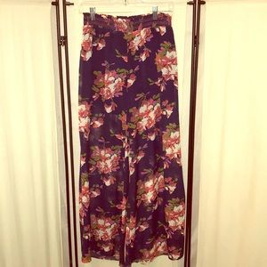 XS elevenses by Anthropologie floral sheer pants